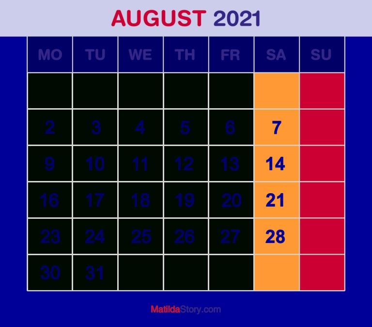 Get Calendar 2021 Start With Monday