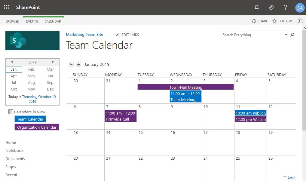 Get Calendar Image For Sharepoint