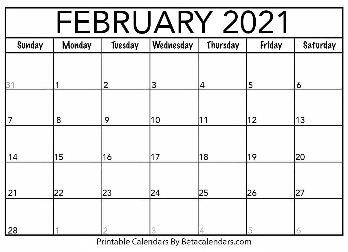 Get Downloadable Calendar Print Out 2021