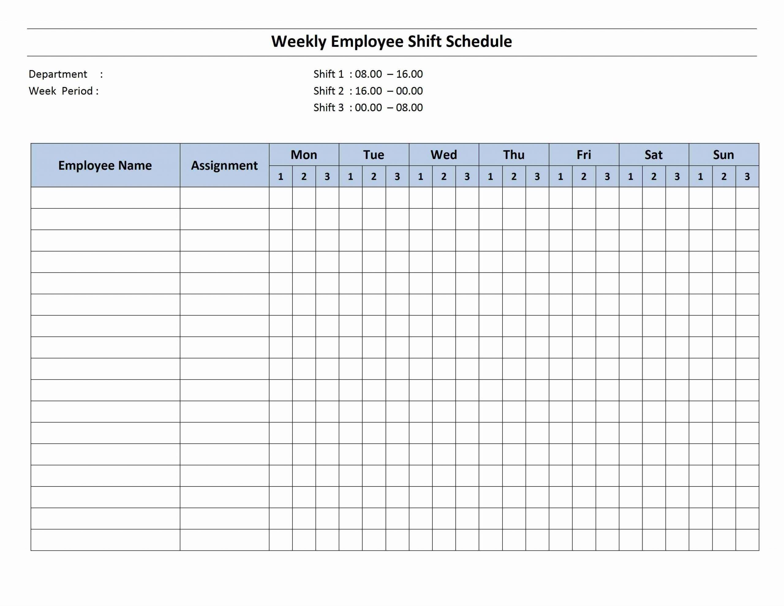Get Free Bi Weekly Editable Schedules