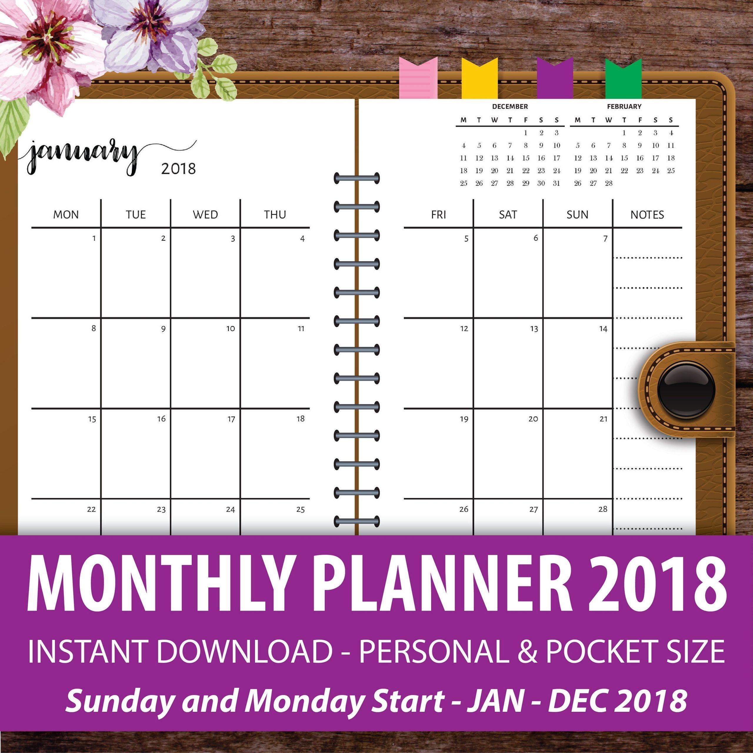 Get Free Printable Pocket Calendar