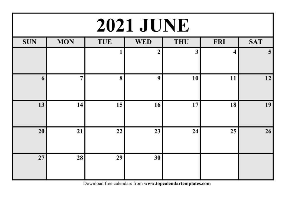 Get June 2021 To June 2021 Calendar
