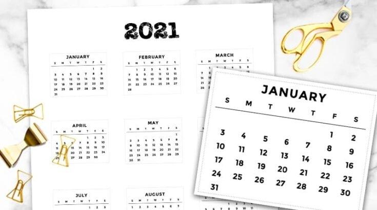 Get Motivational Calendar Template 2021