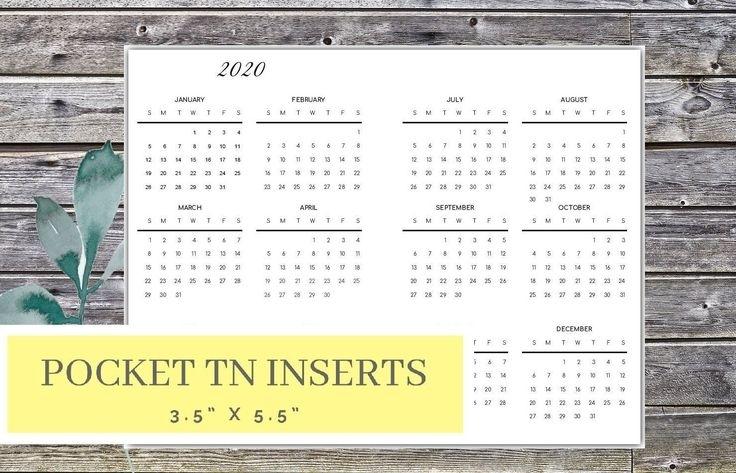 Get Pocket Size Printable Calendar