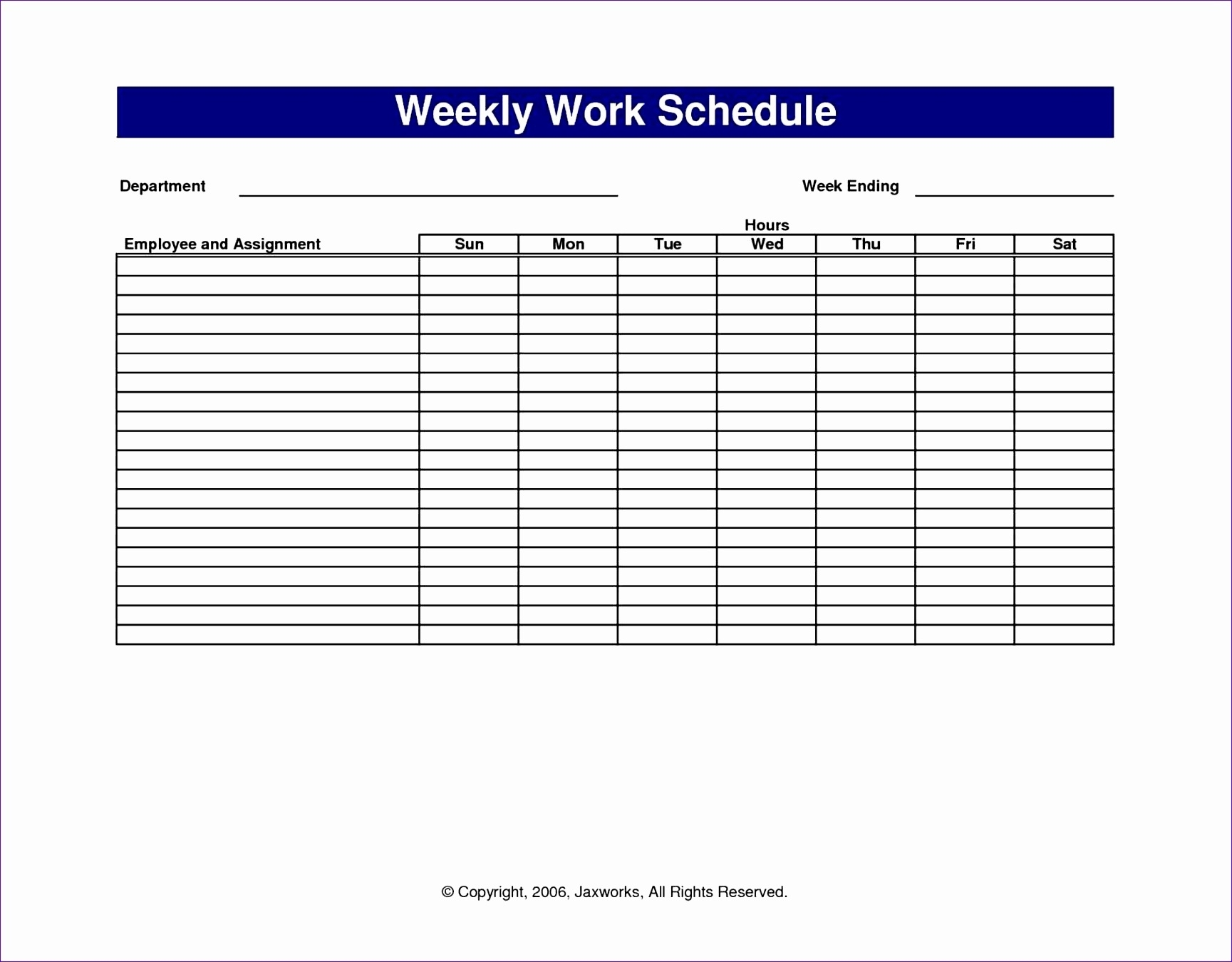 Get Shift Planning Blank Calendar