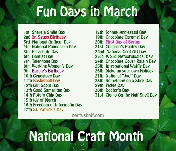 Get Special Days Of The Month 2021