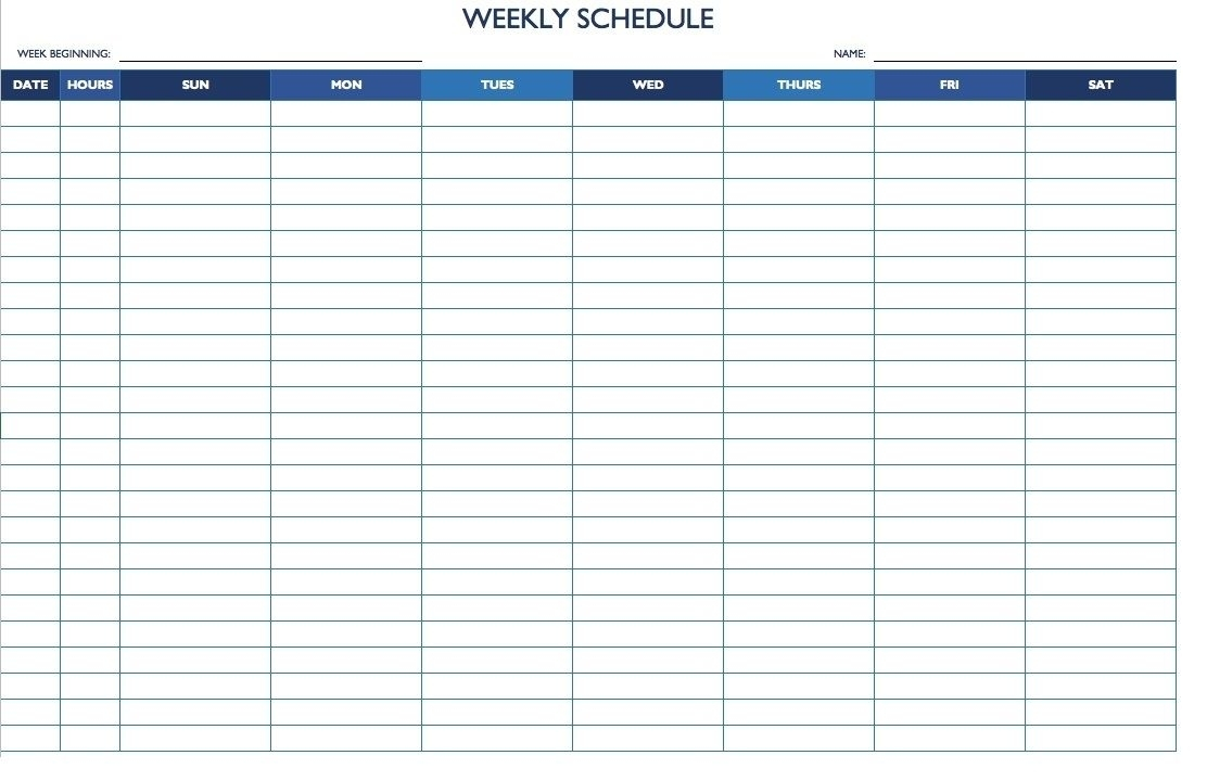 Get Weekly Calendar With Hours Of Day