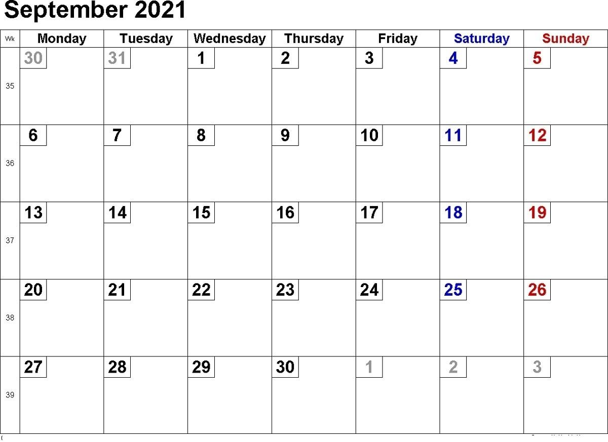 Pick 2021 Free Printable Weekly Calendar Template