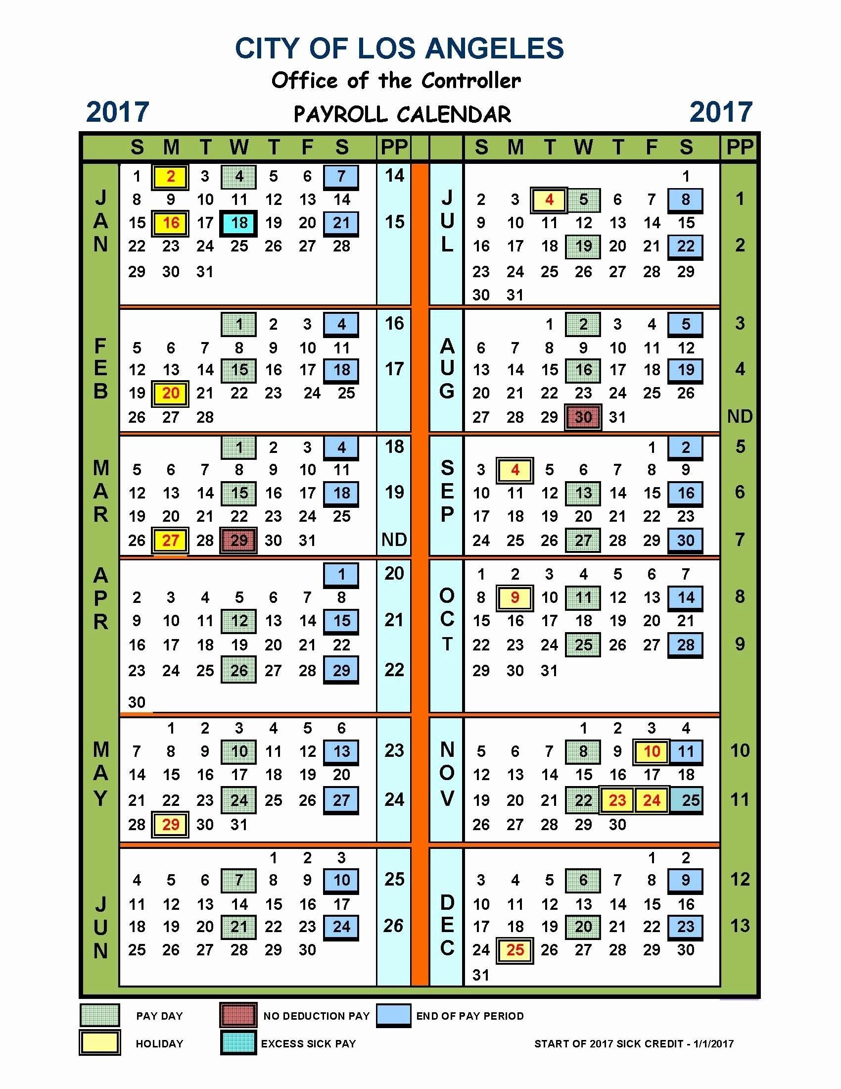 Pick 2021 Pay Period Calendar