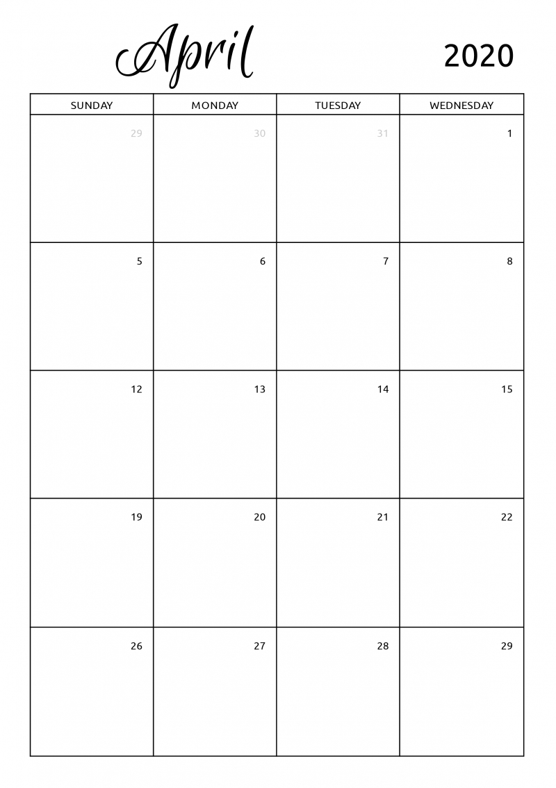 Pick 30 Day Calendar Page Download
