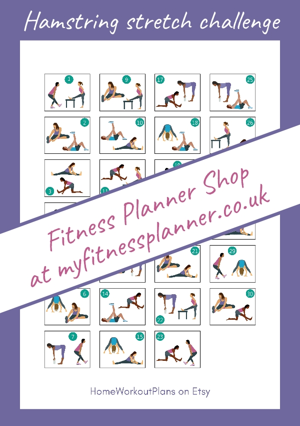 Pick 30 Day Stretch Challenge Printable