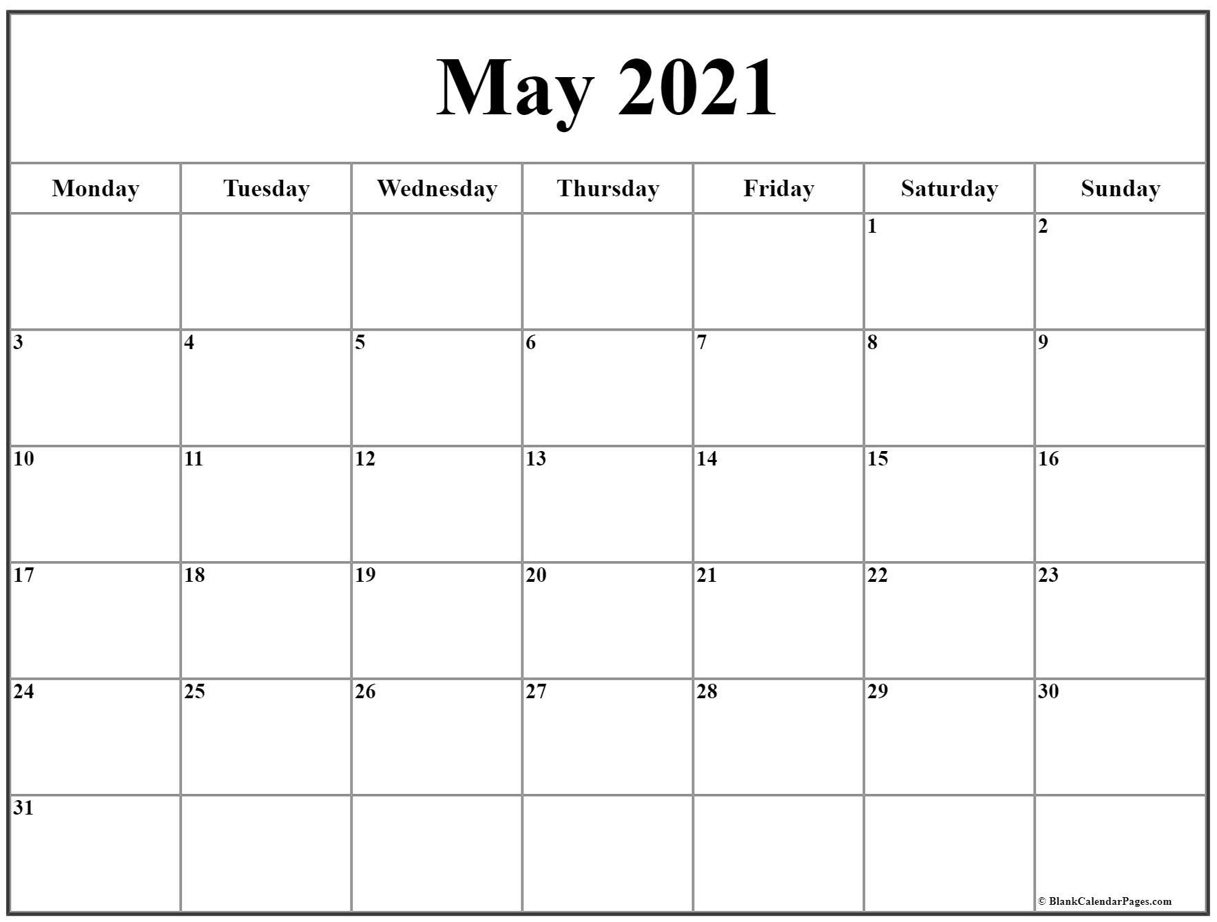 Pick Calendar 2021 Start With Monday