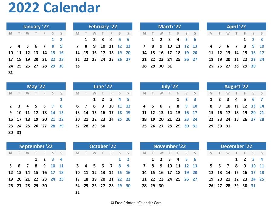 Pick Calendars 2021 2022 2023 Free Printable