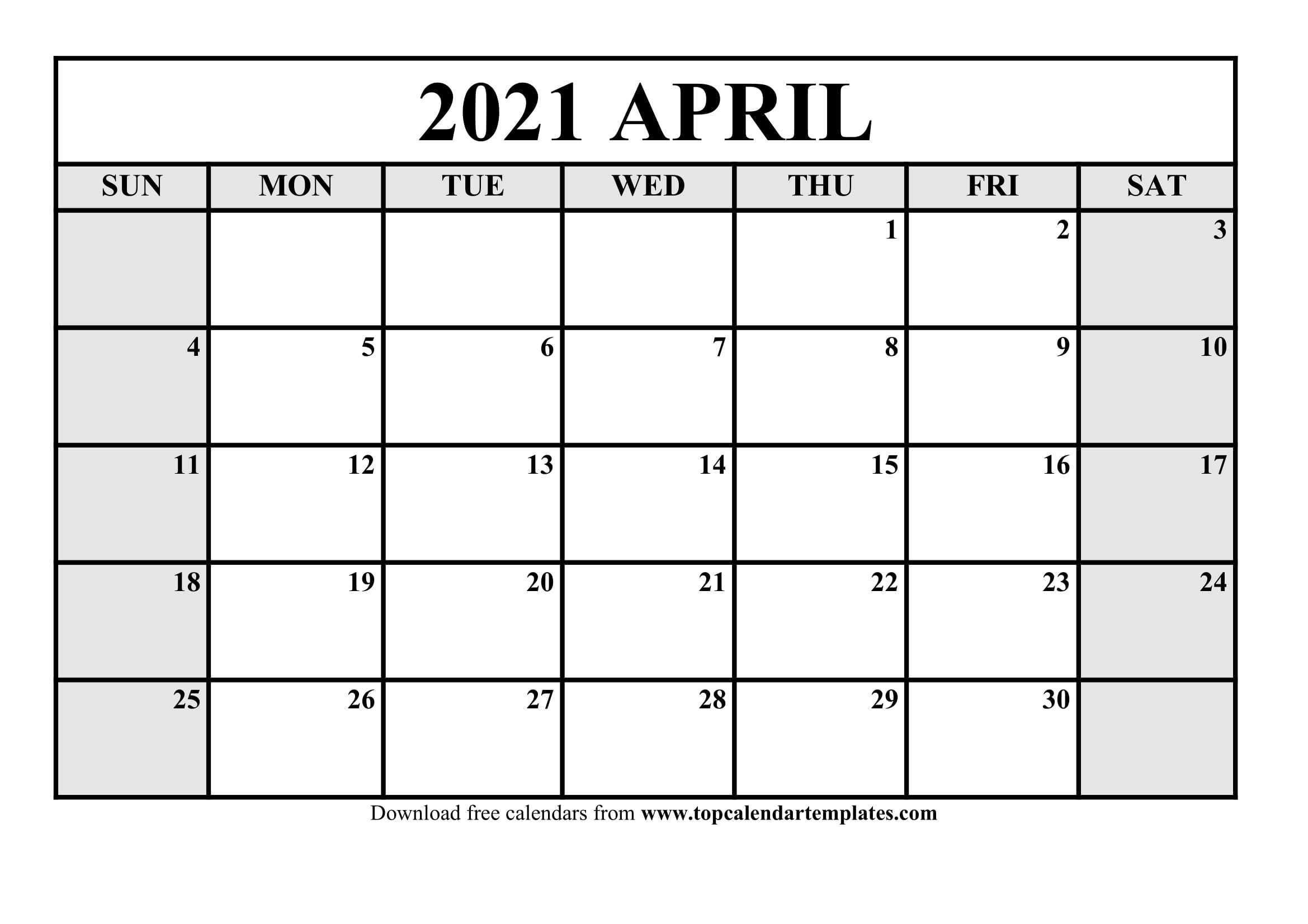Pick Downloadable Calendar Print Out 2021