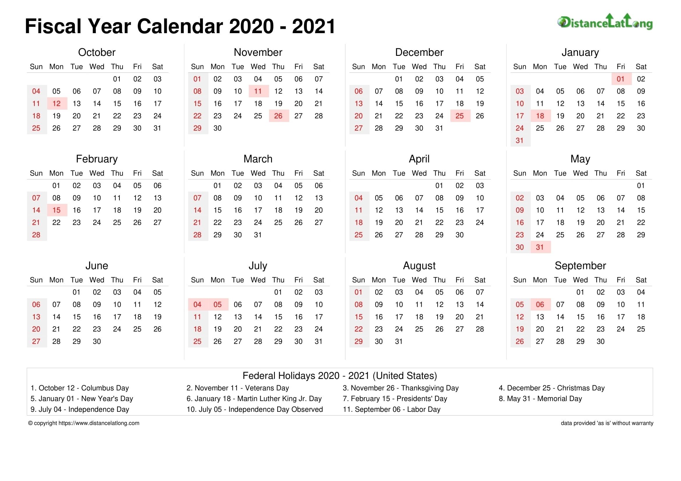 Pick Financial Weekly Calendar