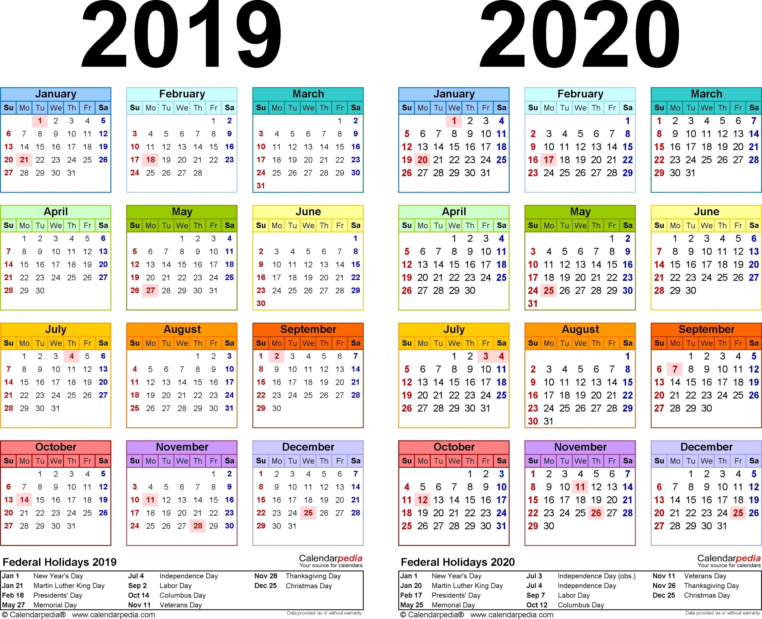 Pick Free Printable Pocket Calendar