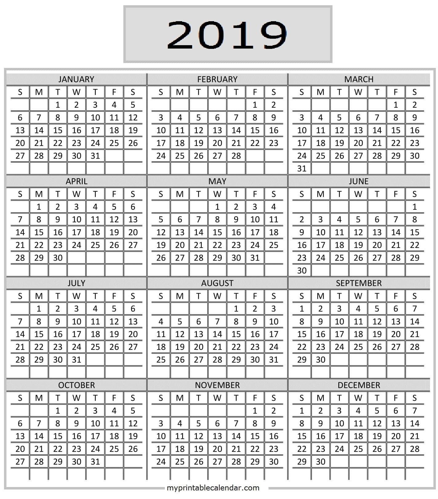 Pick Free Printable Pocket Calendars