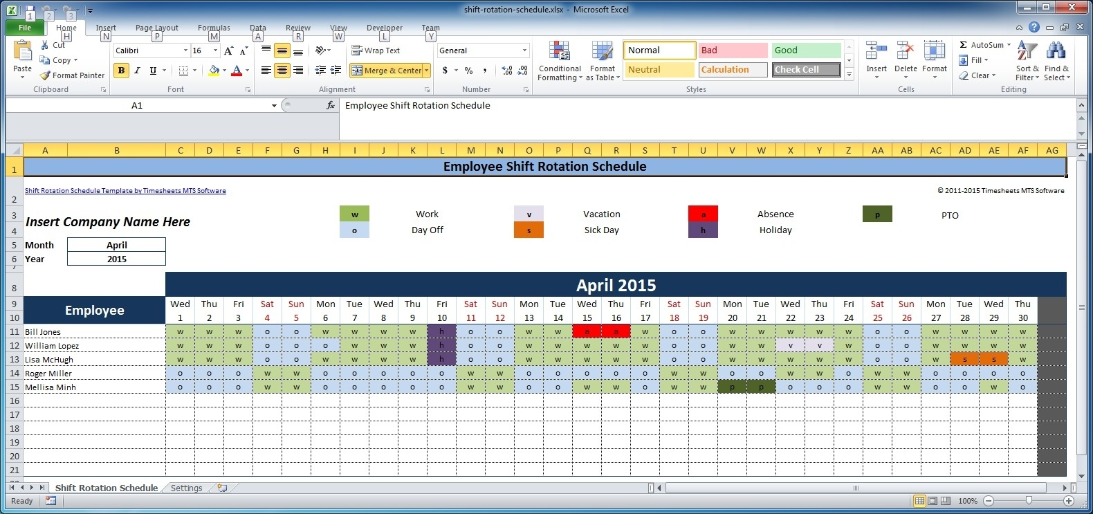 Pick Free Weekly Schedule Type In And Save