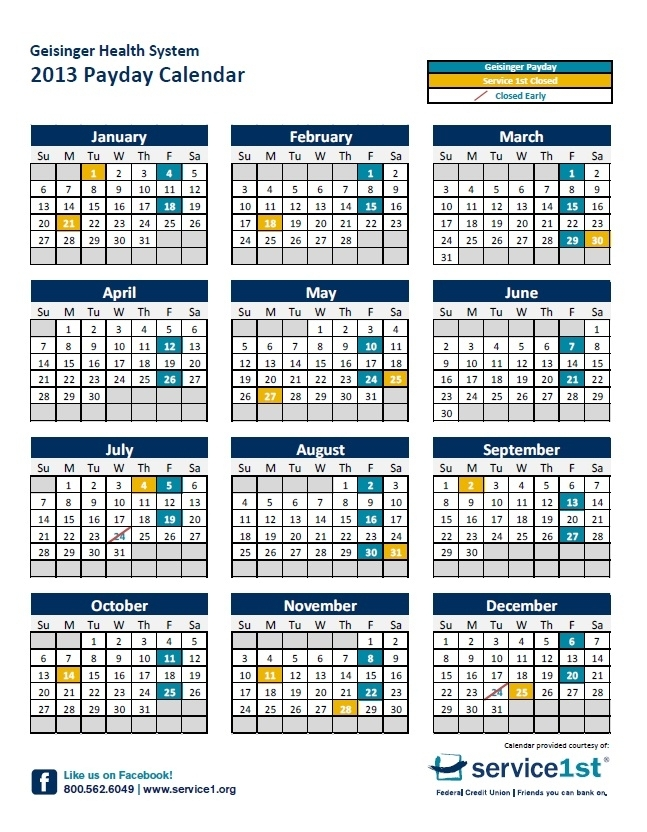 Pick Government Holiday And Pay Calendar 2021