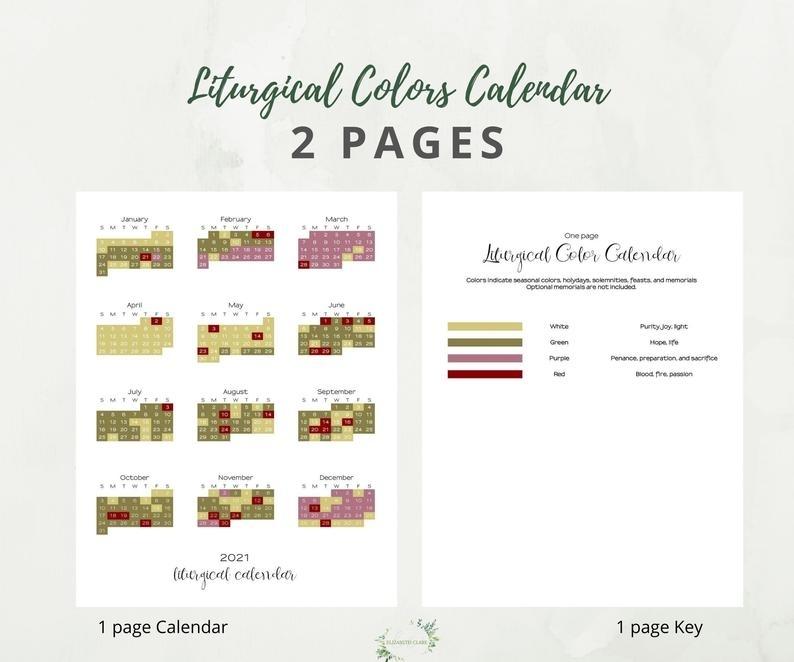 Pick Liturgical Calendar Colors 2021