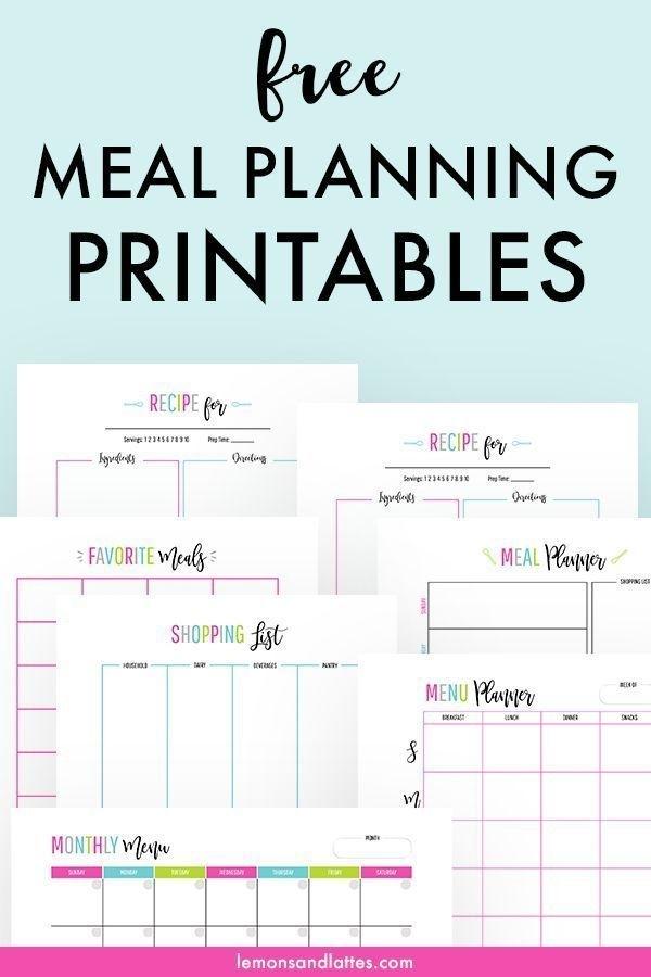 Pick Meal Plan Calendar Printable