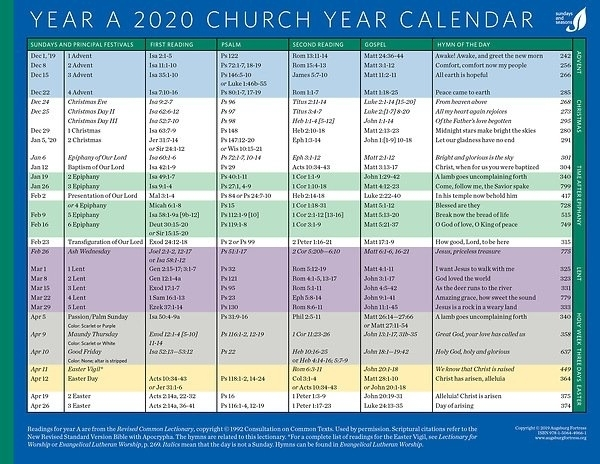 Pick Methodist Church Liturgical Calendar 2021