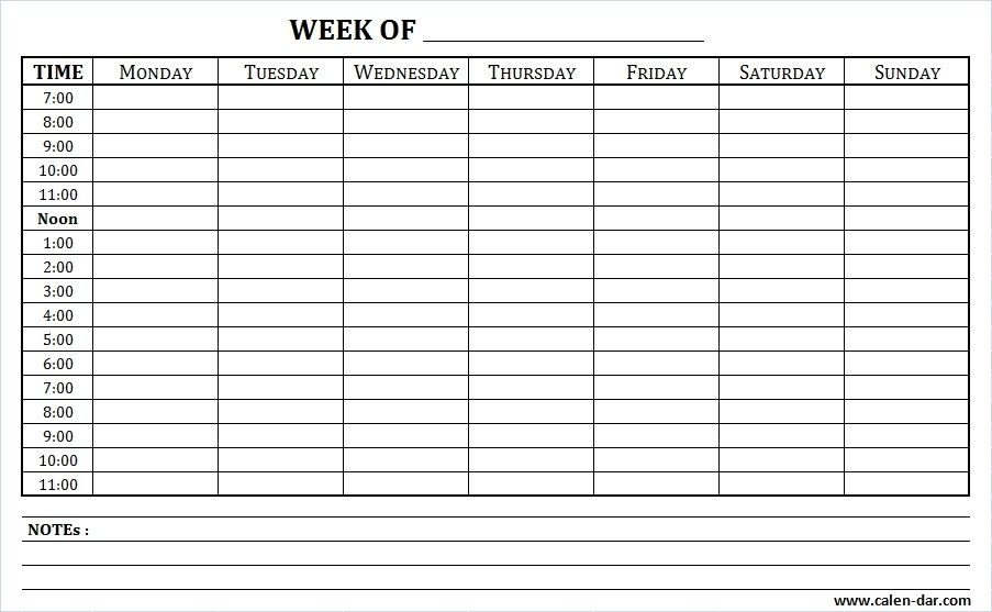Pick Monday Thru Friday Schedue With 15 Minute Increments