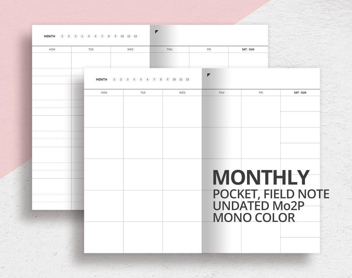 Pick Pocket Printacble Calendar