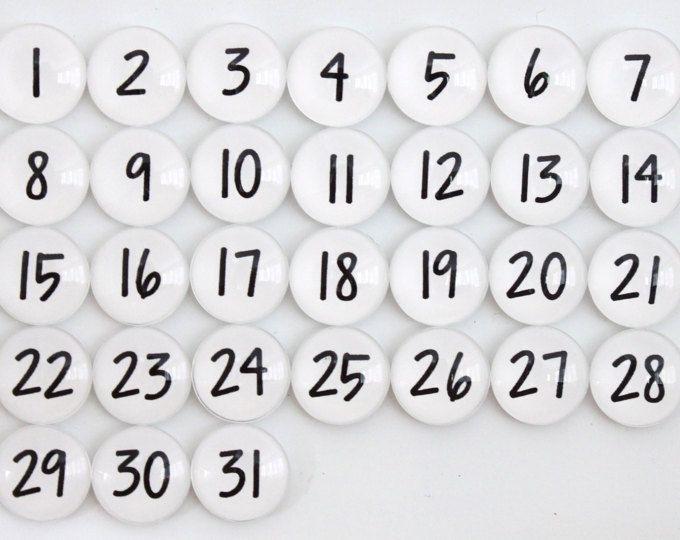 Pick Printable Numbers 1 31