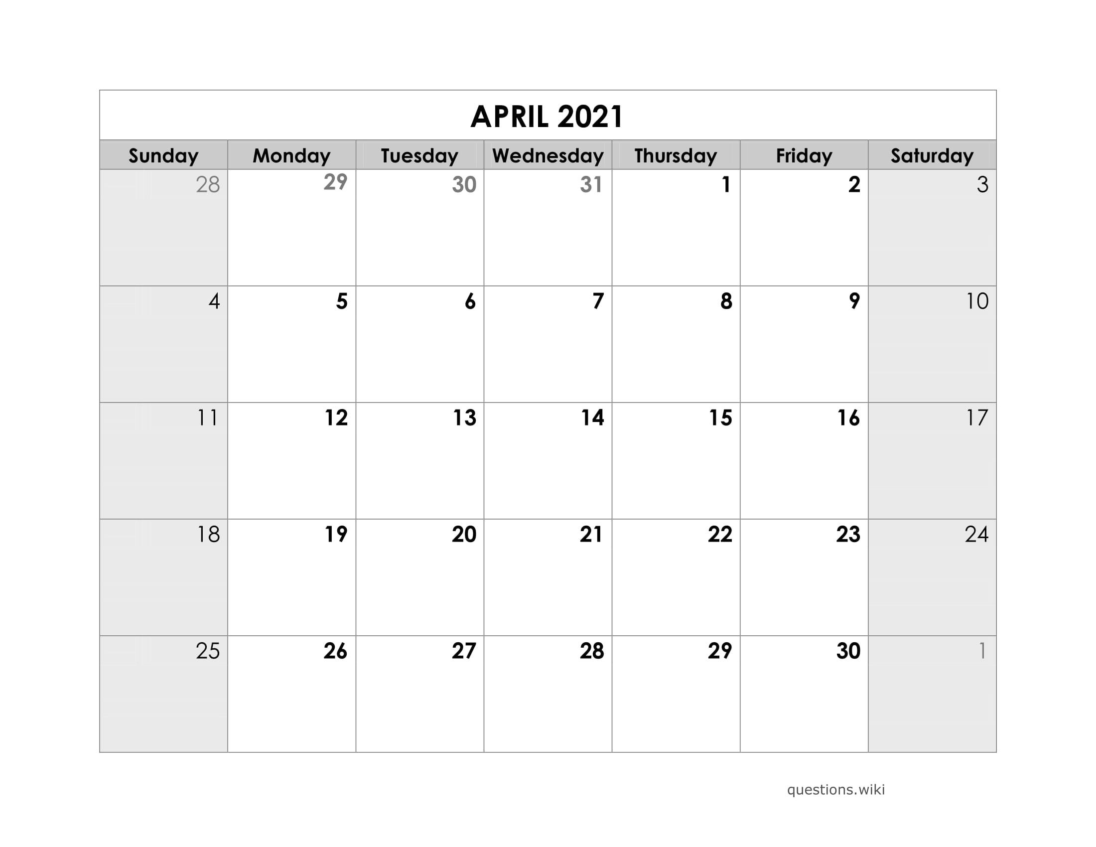 Take 2021 Calendar To Writ On