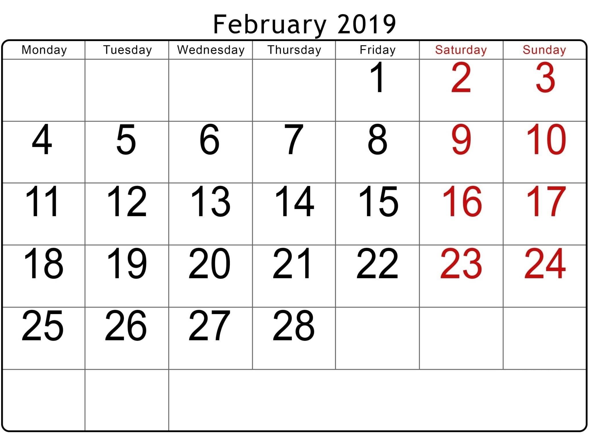 Take 2021 Monday To Sunday Calendar Printable Free