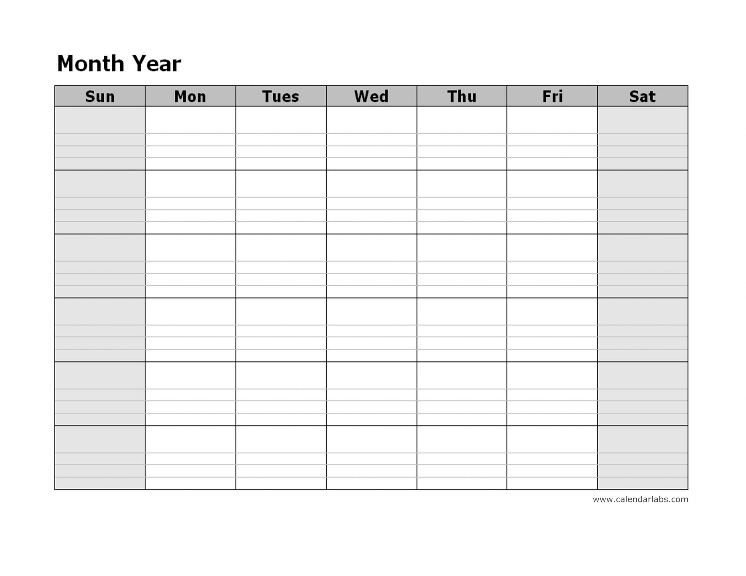 Take 30 Day Calendar Page Download