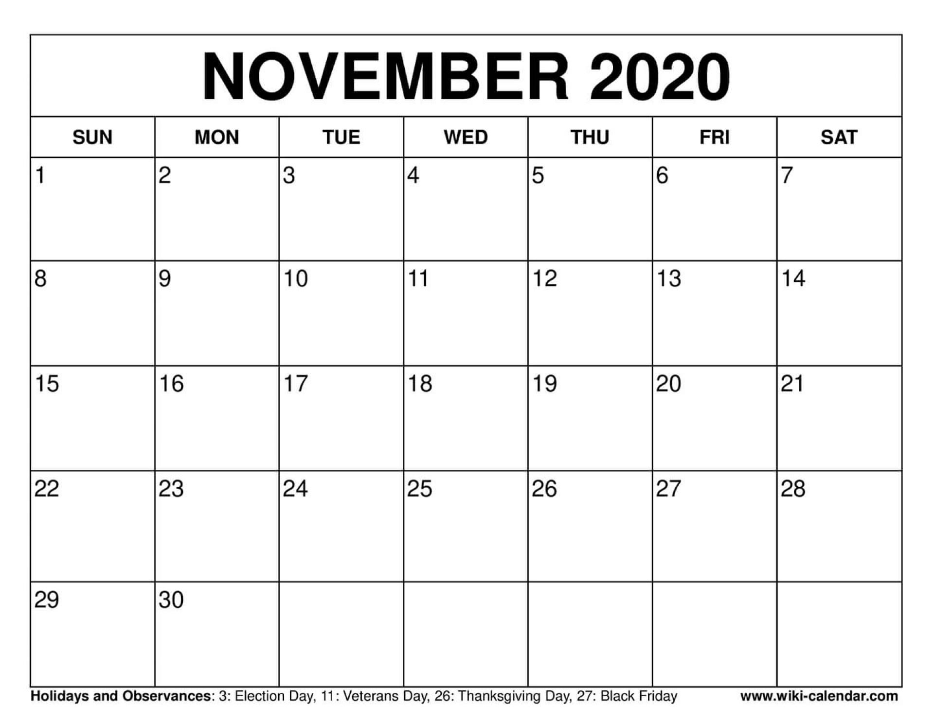 Take 30 Day Calendar Template