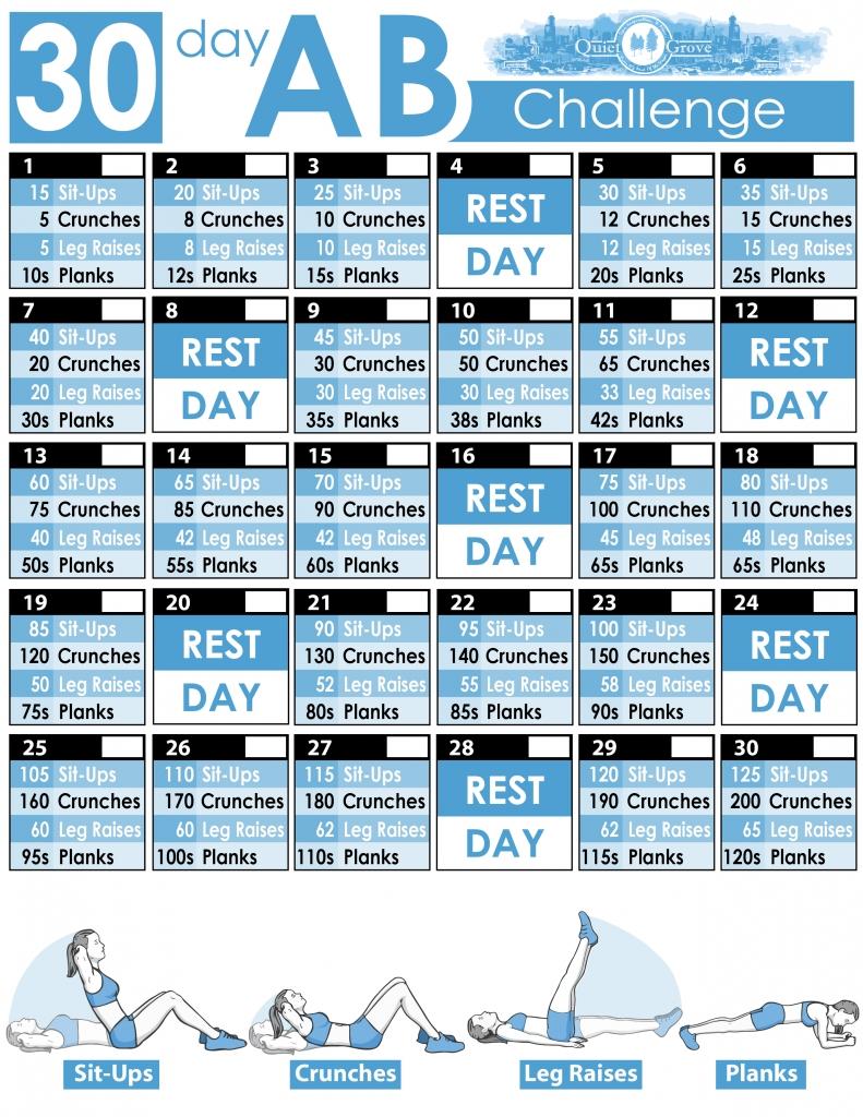 Take 30 Day Fitness Challenge Printable