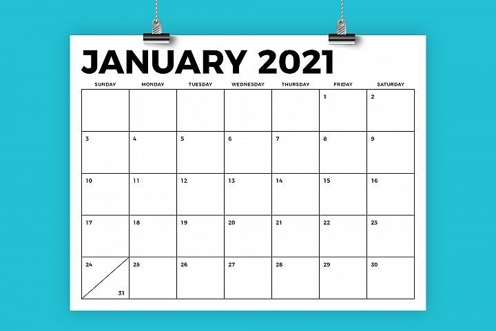 Take 8 And A Half By Eleven Calendar 2021