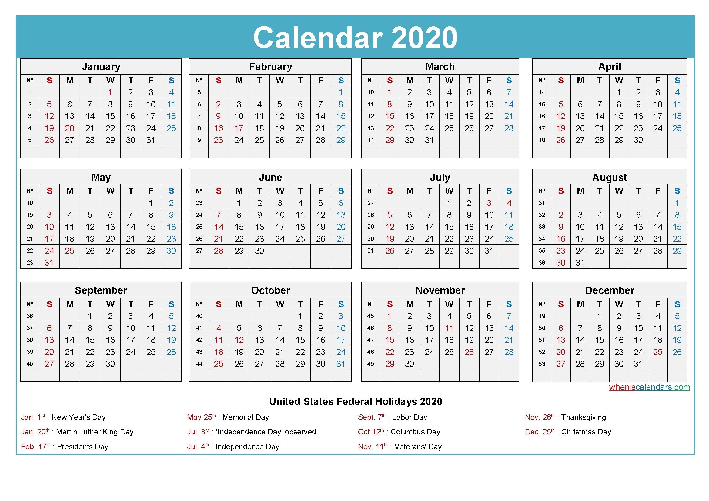 Take Excel Calendar 2021 With Week Numbers