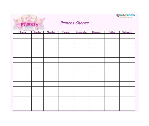 Take Free Weekly Schedule Type In And Save