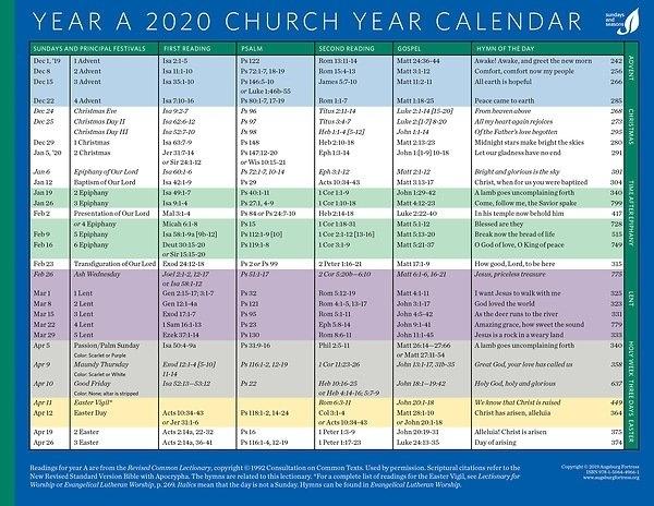 Take Liturgical Calendar 2021 Lutheran