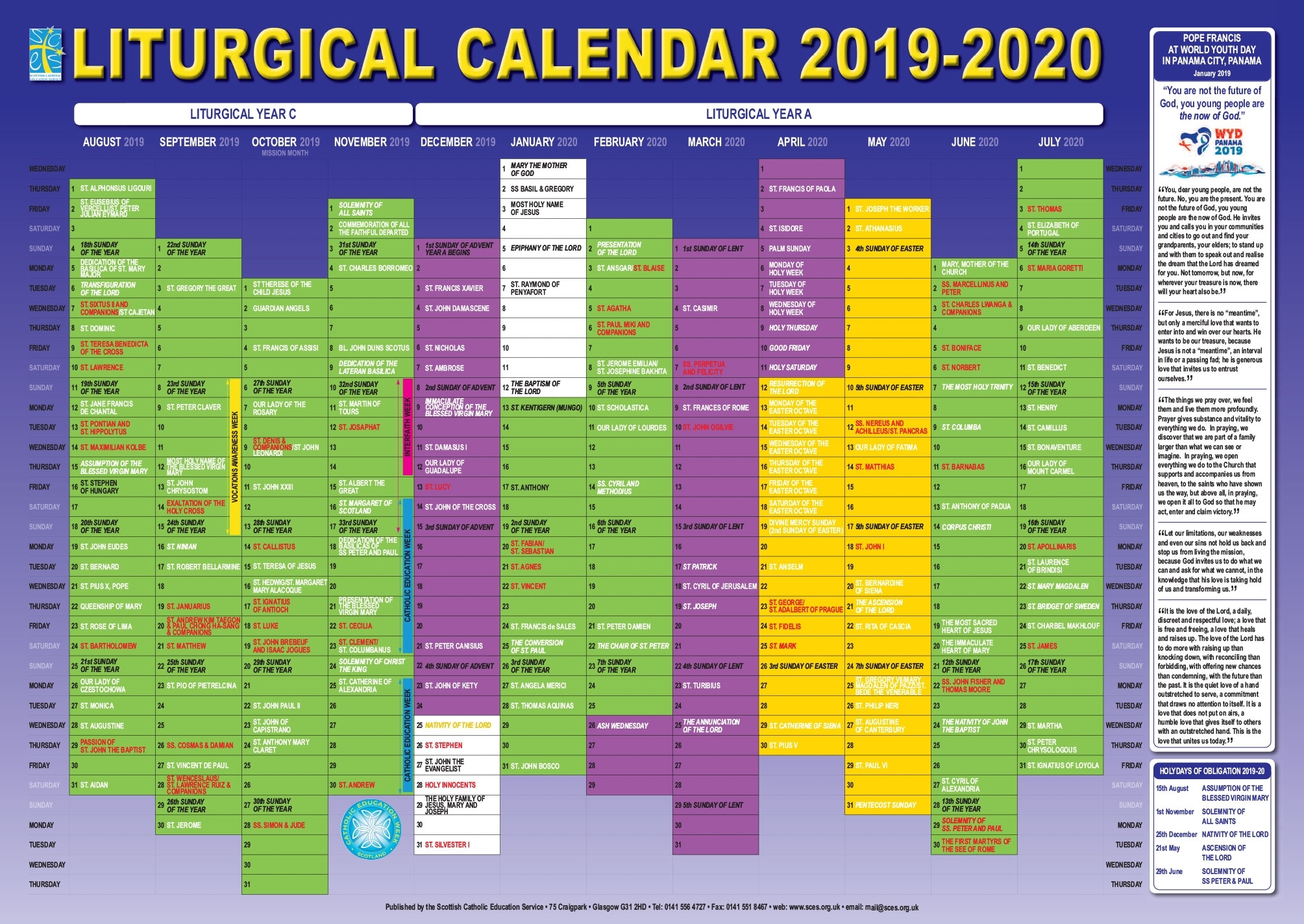 Take Liturgical Calendar Colors 2021
