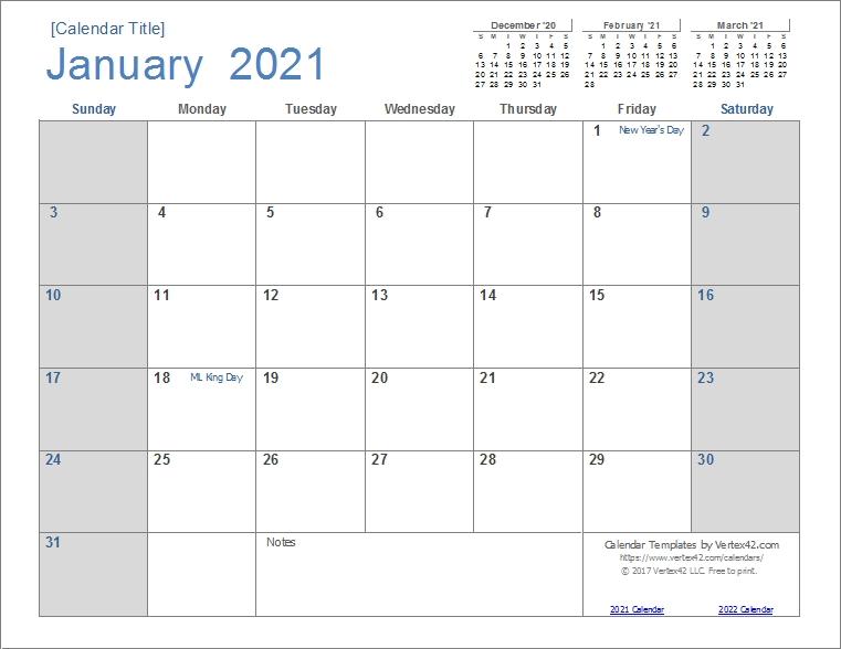 Take Motivational Calendar Template 2021