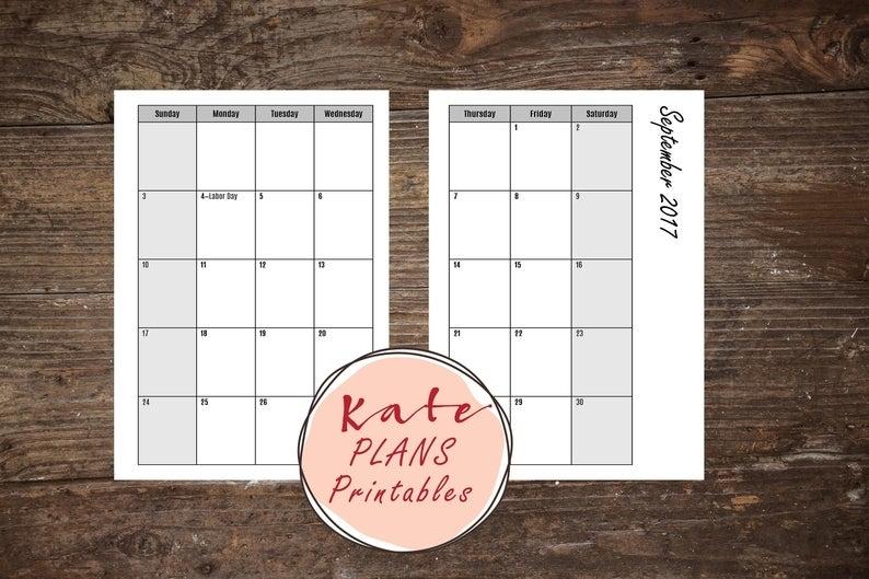 Take Pocket Size Printable Calendar