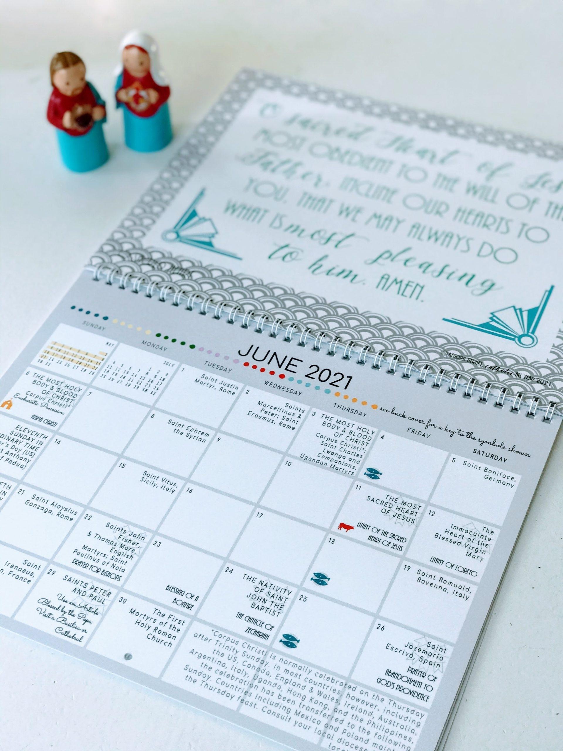 Take Printable Catholic Liturgical Calendar 2021