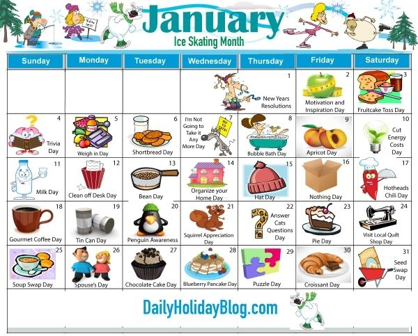 Catch Days Of The Month Calendar With Special Days