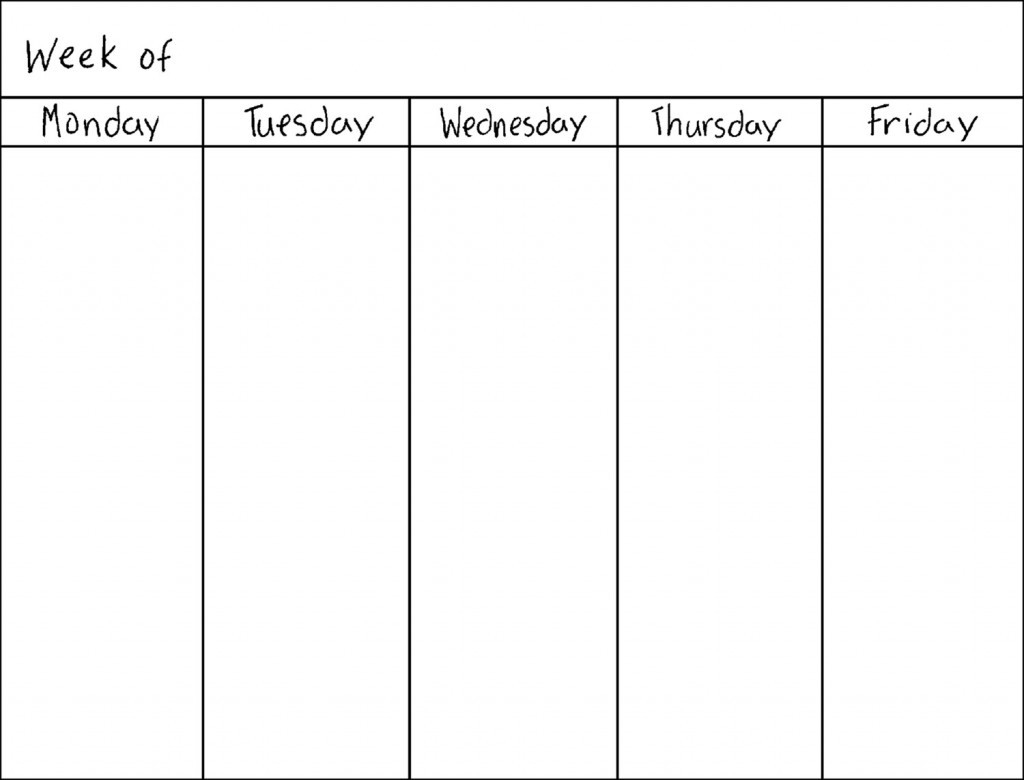 Catch Monday To Friday Planner To Print