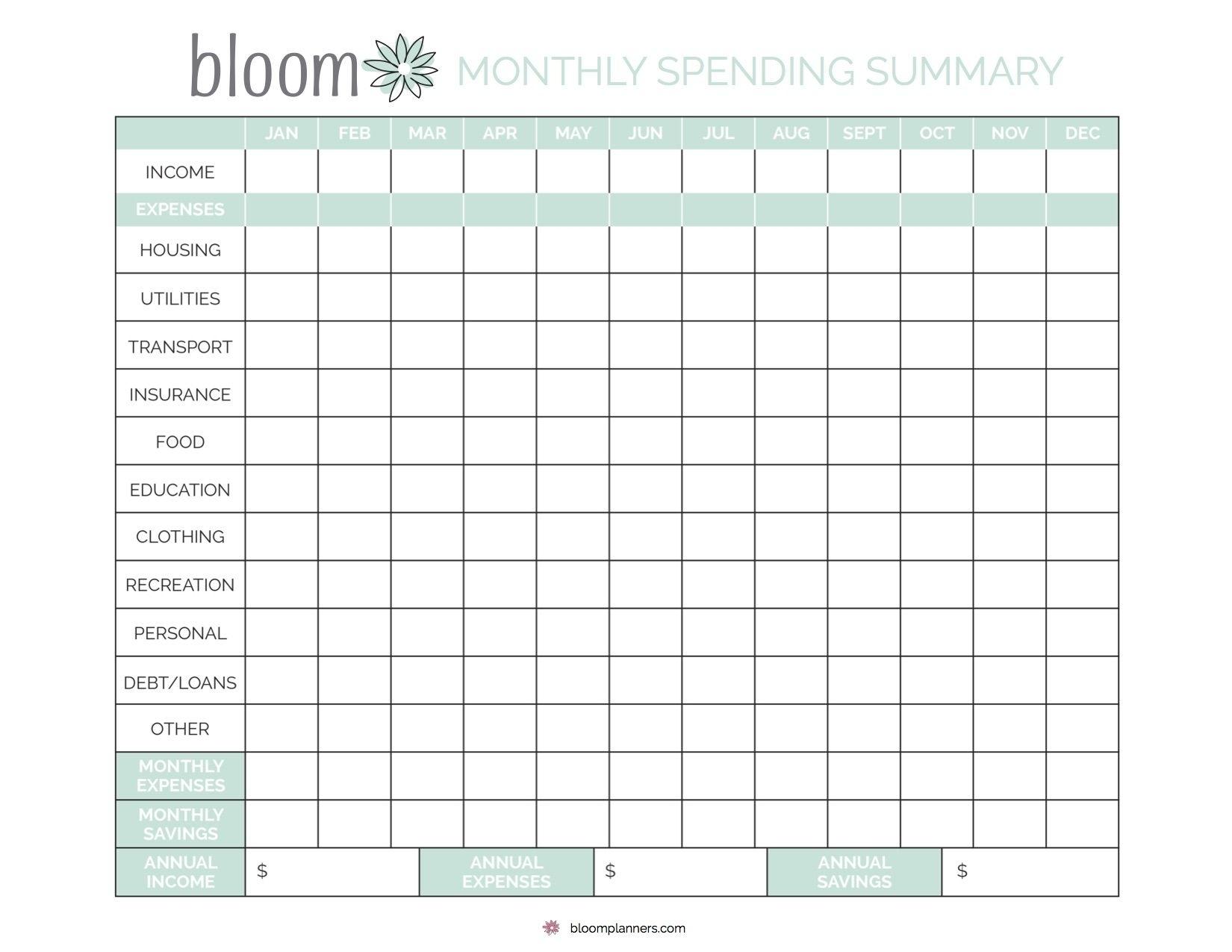 Catch Monthly Bill Calendar
