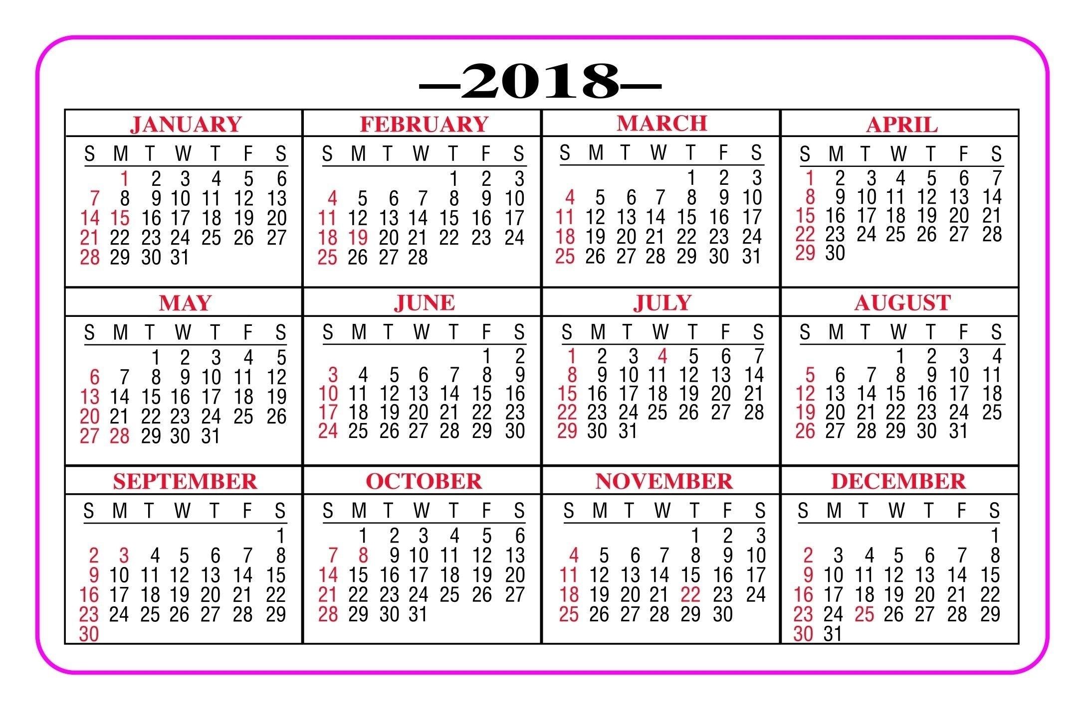 Catch Printable Pocket Calendar