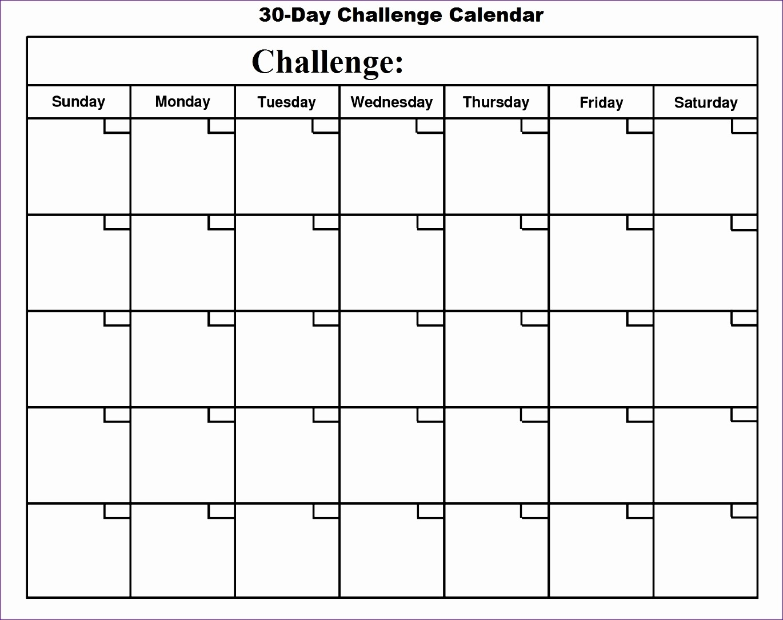 Collect 30 Day Calendar Blank