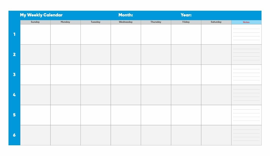 Collect Daily Time Slot Template Week