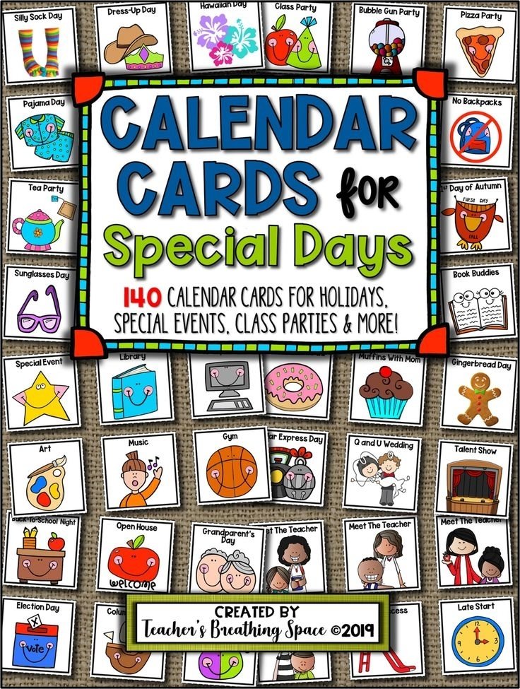 Collect Days Of The Month Calendar With Special Days