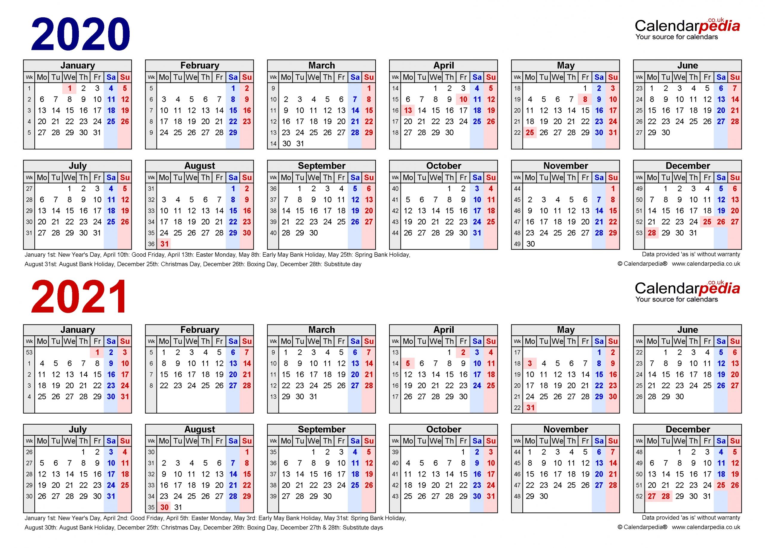Collect Excel 2021 Calendar Formula